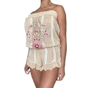 💞 strapless short romper cover up 💞